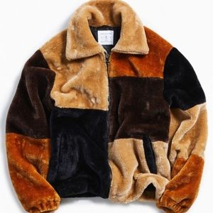 PATCHWORK FAUX FUR JACKET | Urban Outfitters